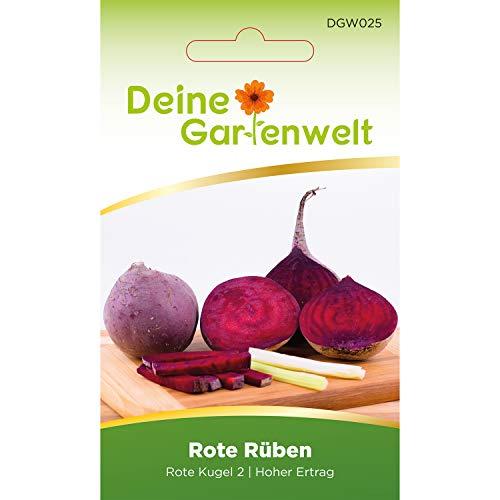Rote Bete Kugel 2 Rüben-Samen | Samen für Rote Rüben | Rübensamen | Saatgut für Rüben