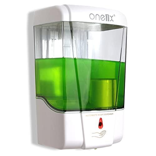 Distributore Automatico di Sapone, Distributore di Sapone Liquido a Volume Regolabile con Sensore a Infrarossi Senza Contatto, Distributore di Sapone Ricaricabile, Adatto per Bagni,Uffici e Hotel
