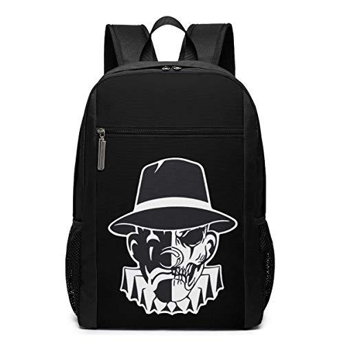 BGKO Unisex Estevan Oriol Clown Skull México West Coast La Mochila Computadora de Negocios Mochila Resistente al Agua Bolsa Fit 17 Inch Laptop
