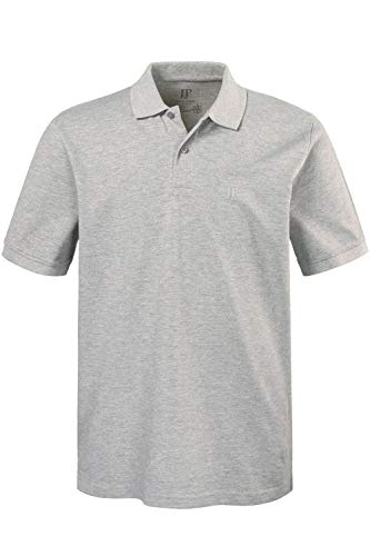 JP 1880 Herren große Größen bis 8XL, Poloshirt, Oberteil, Knopfleiste, Hemdkragen, Pique, grau-Melange 5XL 702560 12-5XL