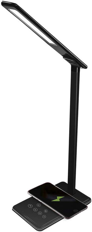 Mr. Fragile Led tischleuchten, Schreibtischlampe mit USB-ladeanschluss,Kabellose ladestation schreibtischlampe,Kreative tischleuchte,Auge-Schutz-Lampe,Lampe anfassen,Student-schreibtischlampe,schwarz
