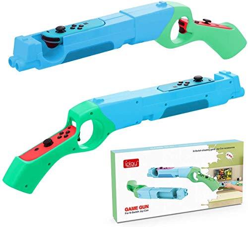 LYCEBELL 2 Paquetes Controlador de Pistola de Juego para Nintendo Switch, Switch Accesorios para Joy con Grip de Tiro Somatosensorial, Compatible con Nintendo Switch Juego