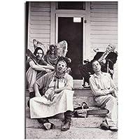 Qqwer テキサスチェーンソー大虐殺古典的なホラー映画の絵画ポスターは、ホームルームの装飾のためのキャンバスの壁の写真を印刷します-40X60Cmフレームなし