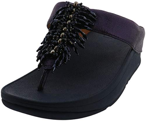 FitFlop Women's Toe-Thongs Flip-Flop, Midnight Navy, 7