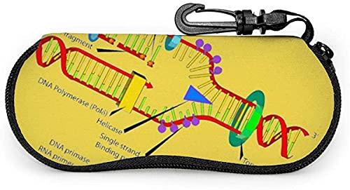MODORSAN Diseño de replicación de ADN-Diseño de replicación de ADN Estuche blando para anteojos para mujeres y hombres