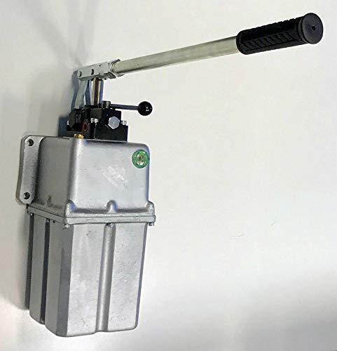 Uzman-Versand 45ccm Hydraulik Handpumpe mit 5 liter Tank doppeltwirkend + Handhebel, Hydraulikpumpe Hydraulische Hand-hebel-Pumpe Manuell Hydraulikhandpumpe hydrauliköl