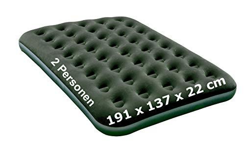 Izzy Queen Premium opblaasbaar tweepersoonsbed met elektrische pomp + 2 kussens voor 1-2 personen, 203 x 152 x 46 cm