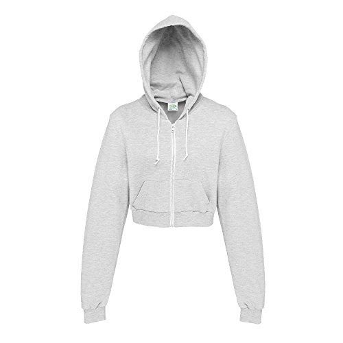 Just Hoods - Bauchfreie Kapuzenjacke für Damen/Heather Grey, XS