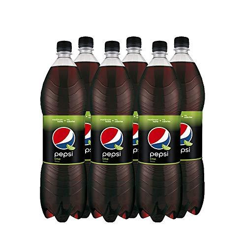 Pepsi Cola Lime (6 x 1,5 Liter) Erfrischende Cola mit Limetten Geschmack
