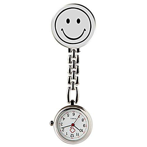 Hiwatch Krankenschwester Lächeln Digitale Analog Revers Taschenuhr mit Klammer