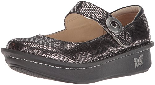 Alegria Paloma Womens Mary Jane Shoe Pewter Dazzler 6 M US