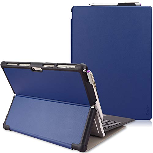 ProCase Microsoft Surface Pro 7 / Pro 6 / Pro 2017 (5th Gen) / Pro 4 Protective Case Cover, Ultra Slim Lightweight, with Built-in Surface Pen Holder, Compatible with Surface Type Cover –Navy