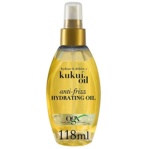OGX Hydrate & Defrizz + Kukui Oil Anti-Frizz Hydrating Oil, 4 Ounce
