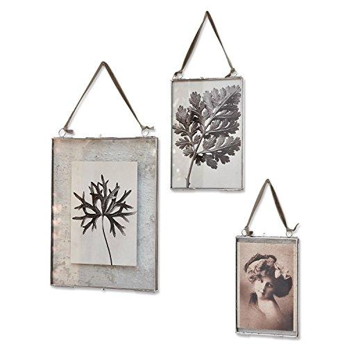 Loberon Bilderrahmen 3er Set Ruston, Metall/Glasabdeckung, H/B ca. 28/21 cm, Silber/klar