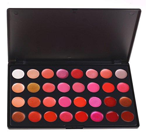 Pure Vie(TM) 32 Farben Lippen Palette Lippenstift Lipgloss Lipstick Kosmetik Set