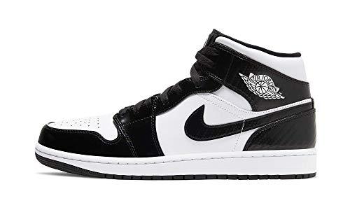Nike Jordan 1 Mid All Star Carbon Fiber Negro/Blanco Hombres DD1649-001, (Negro/Blanco), 42.5 EU