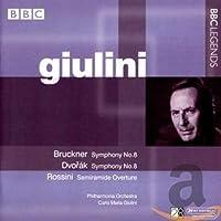 ブルックナー:交響曲第8番/ドヴォルザーク:交響曲第8番/ロッシーニ:歌劇「セミラーミデ」序曲(フィルハーモニア管/ジュリーニ)(1963, 1983)