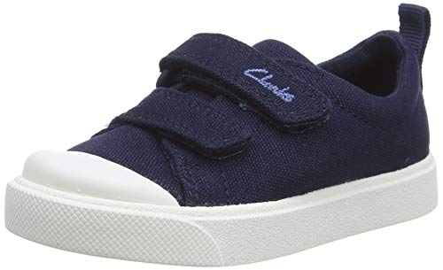 Clarks City Bright T, Zapatillas Unisex Niños, Azul (Navy Canvas Navy Canvas), 27 EU