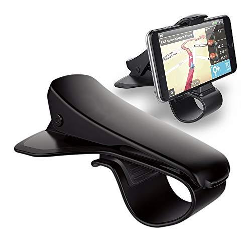 KAEHA Soporte para teléfono para automóvil,Soporte para GPS Diseño de HUD de conducción Segura, Soporte para teléfono Celular Duradero para iPhone Samsung, teléfono Inteligente de 6.5 Pulgadas