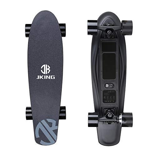 Electric Skateboard Electric Longboard with Remote Control Electric Skateboard,350W Hub-Motor,12.4 MPH Top Speed,5.2 Miles Range,3 Speeds Adjustment