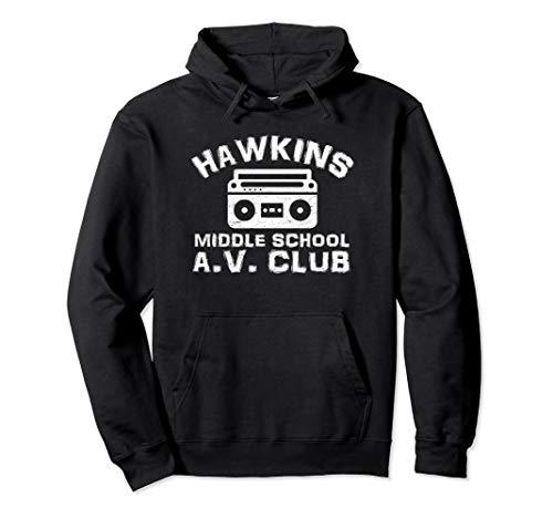 Hawkins Middle School AV Club Hoodie Vintage 80s Boom Box