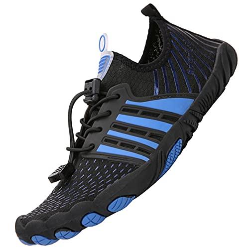 ZusFut Escarpines Hombres Barefoot Respirable Antideslizante Zapatos de Agua Hombre Escarpines Agua De Playa Rio Pesca Buceo Surf