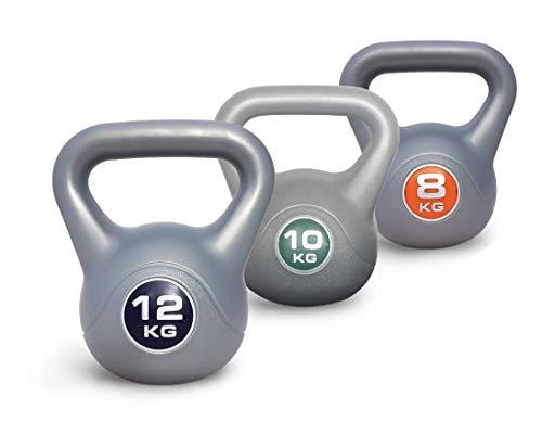 UK Fitness Kettlebell Set of 3 Kettelbells 8kg 10kg 12kg INCLUDES VIDEO and UNLIMITED ON LINE CLASSES