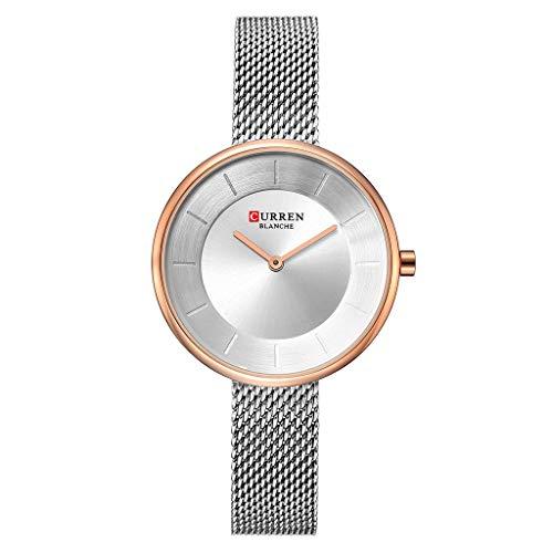TWISFER Damen Uhren Analog Quarz Edelstahl Wasserdicht Mesh Armbanduhr Elegant Zifferblatt Beiläufig Kleid Uhr Einfachheit Geschäft
