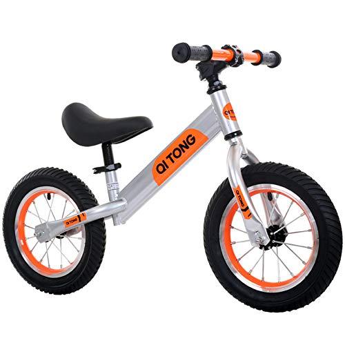 MENGLJ Marco De Acero Al Carbono para Bicicleta Equilibrada Bicicleta De Equilibrio Sin Pedales para Niños Y Niños Pequeños De 2 A 6 Años (Negro),Orange