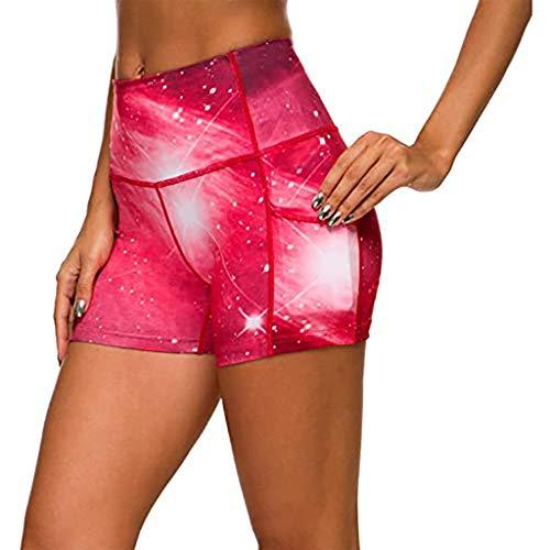 NAQUSHA Mallas cortas de entrenamiento de panal de abeja para mujer, cintura alta, con fruncido, para correr, fitness, elástico, suave, para deportes, gimnasio, yoga, pantalones