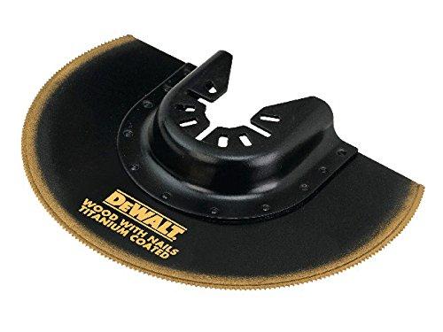 DeWalt Titan Segment-Sägeblatt (100 mm, gekröft, Multitool-Zubehör- für den Einsatz in Holz, Holz mit Nägeln, Kunststoffen und Gipskarton) DT20711