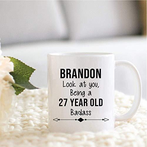N\A Regalo de cumpleaños 27 Personalizado para él, Regalo de cumpleaños 27 Personalizado para Amigo, Hijo, Hermano, colega, papá, Esposo