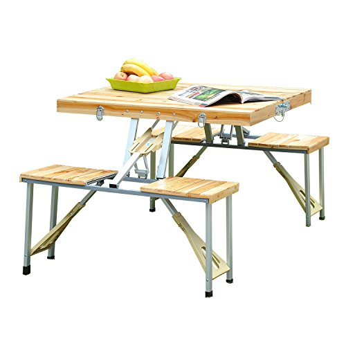 Outsunny Portable Folding Camping Picnic Table