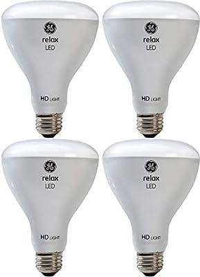 GE Lighting 43073 Relax HD LED (65-Watt Replacement), 700-Lumen BR30 Bulb, Medium Base, Soft White, 4-Pack, Title 20 Compliant