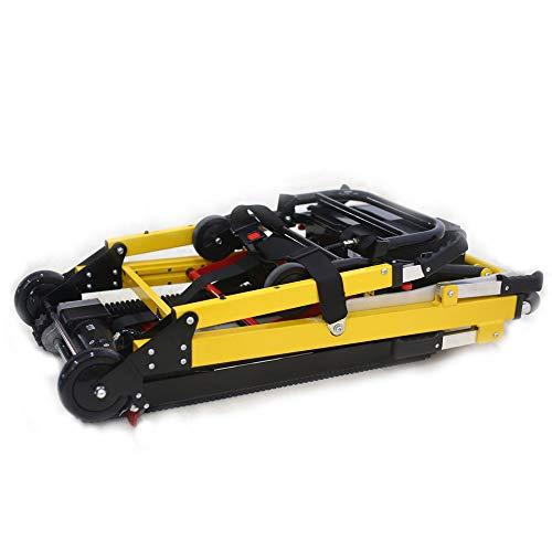 Fabio Elektrischer Treppenhebestuhl, motorisiert, für ältere Menschen, verstellbarer Handruck, Treppensteiger Rollstuhl, zusammenklappbar, leicht, Aluminiumlegierung