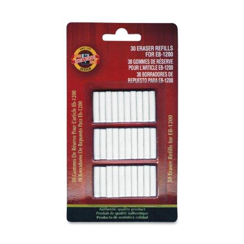 Koh-i-Noor Eraser Refills for Koh-i-Noor #EB-1200 Battery-Operated Eraser (Sold Separately), Pack of 30 Erasers (EB-1200ER)