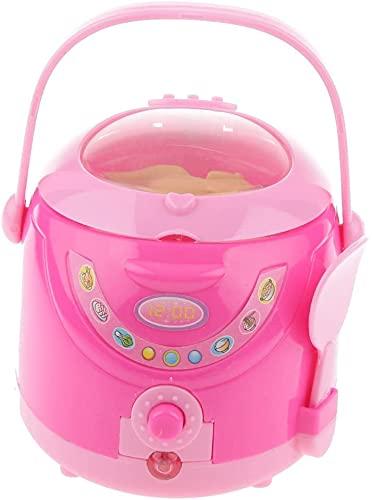 N-K Haushaltsgerät Modell Spielhaus Puppenhaus Spielzeug Kinder präsentiert alle 8 Muster Rosa-Reiskocher Praktisches Design und langlebig