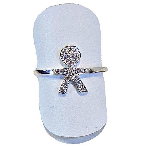 FOGI by Gianni Carità: anello Bimbo Silver 925 Basic argento bianco e zirconi misura 14