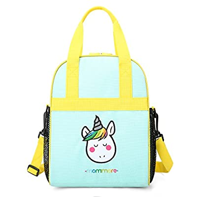 mommore Portable Unicorn Lunch Bag for Kids Ins...