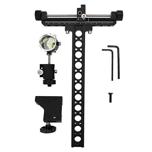 Zerone Archery Bow Sight,Aluminum 1 Pin 019' Fiber Optics Bow Sight Hunting Accessory