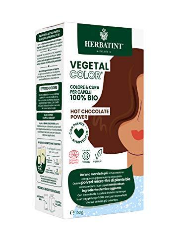 Herbatint Vegetal Color – Colorazione vegetale 100% naturale e bio HOT CHOCOLATE POWER – Cioccolato 100 gr