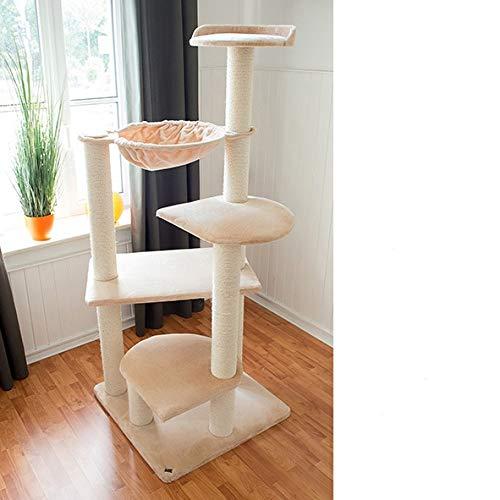 Bontoy Kratzbaum BALOU XXL 191cm Creme, Stämme 12cm, für große Katzen wie Maine Coon