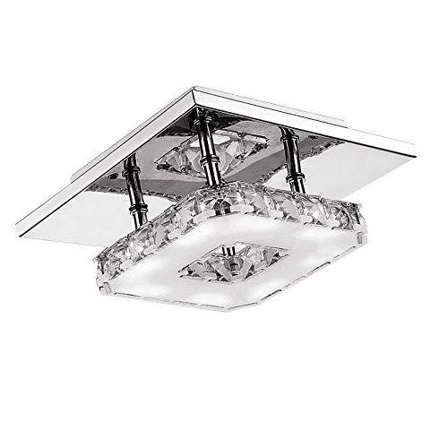 12W LED Kristall Deckenlampe Kaltweiß Deckenleuchte Kreative Design Kronleuchter Hängelampe Pendelleuchte für Esszimmer Flur Schlafzimmer