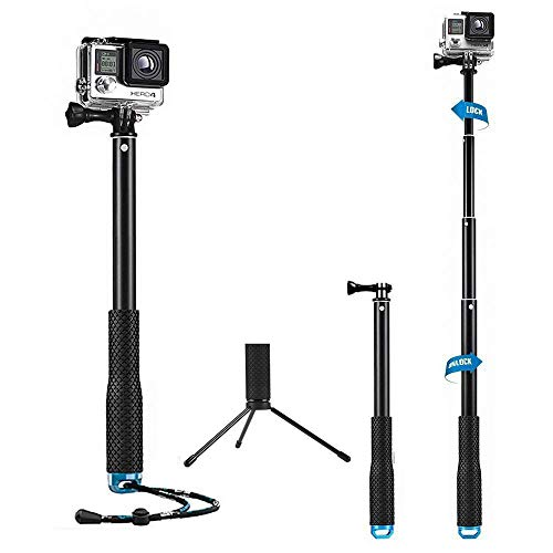 "Mystery 43"" Bastone Selfie Telescopico Monopiede Pole Impermeabile e Regolabile per GoPro 5/4/3 +/3/2/1 Xiaomi Action Camera"