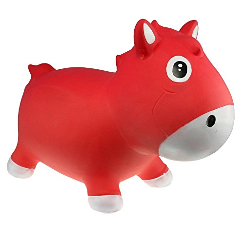 Vital Innovations KFPO130208 - Hüpftier Harry The Horse, rot