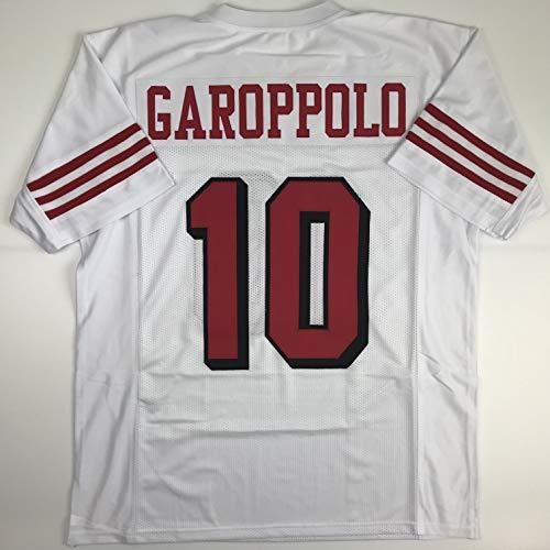 Unsigned Jimmy Garoppolo San Francisco Alternate Retro White Custom Stitched Football Jersey Size Men's XL New No Brands/Logos