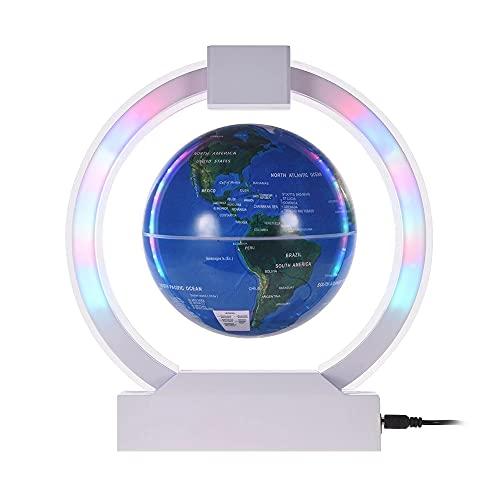 Siuber Levitación Globo Flotante, Mapa del Mundo magnético Misterioso suspendido, con Gadgets únicos de luz LED, decoración del hogar Artesanía de fantástico