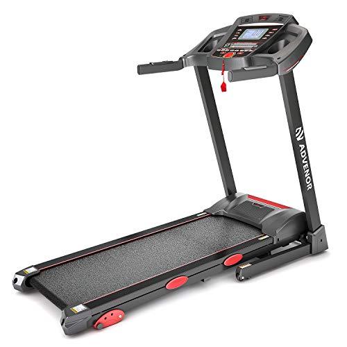 ADVENOR Treadmill Motorized Treadmills 3.0 HP Electric Running Machine Folding Exercise Incline Fitness Indoor 64 Preset Programs (RED) from ADVENOR