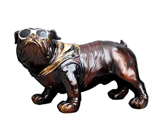 LGR Bulldog Decorative Ornament, Dog Statue Figure French Bulldog Hip Hop Vintage Garden Gift