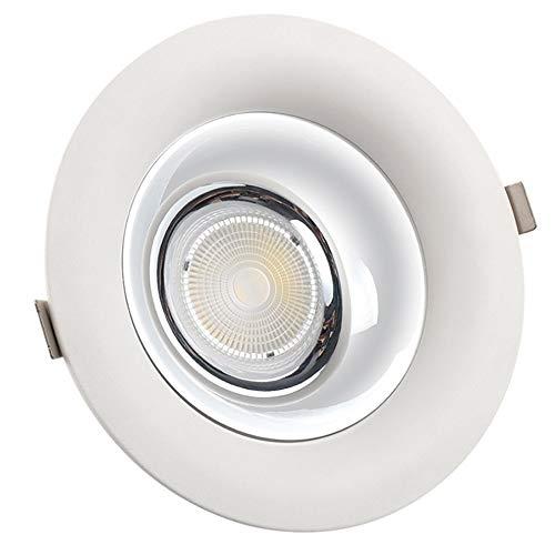 YBright LED Einbauleuchte COB 7W Super Bright beleuchtet unten Deckenausschnitt 65mm Akzentbeleuchtung Druckguss-Aluminium-Befestigung 3000K 4000K 6000K 110-240V for Shop-Vitrine